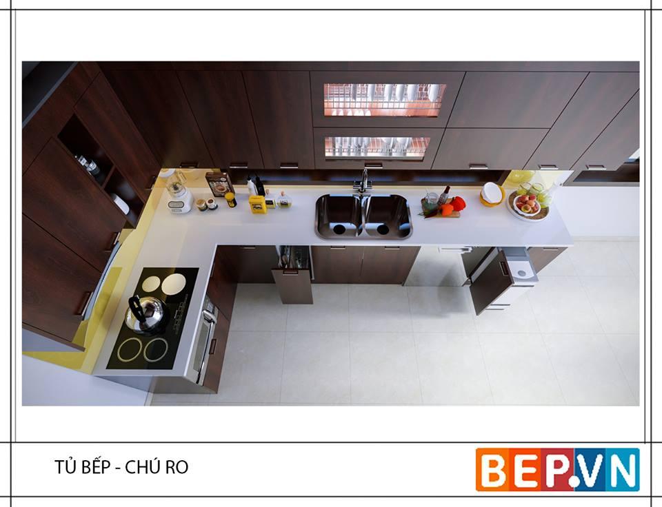 top 10 tủ bếp Laminate phong cách Châu Âu giữa lòng Hà Nội