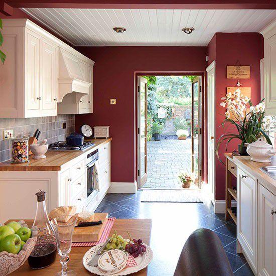 Những gam màu kỳ lạ, ấn tượng trên tủ và tường bếp 4