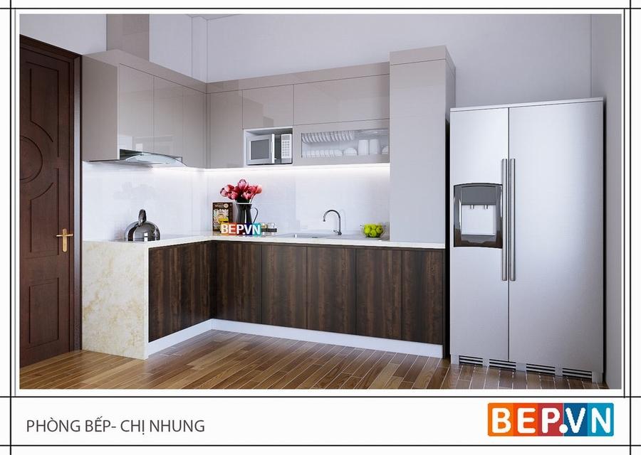 Để có căn bếp chữ L vừa gọn gàng sạch sẽ dễ lau chùi nhưng vẫn sang trọng và ấm cúng thì tủ bếp Acrylic và Laminate là lựa chọn thông minh và sáng suốt.