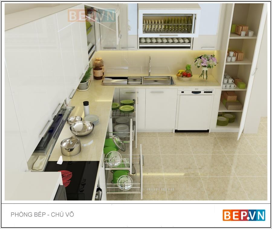 Tủ bếp Acrylic nhà GS. Đặng Hùng Võ