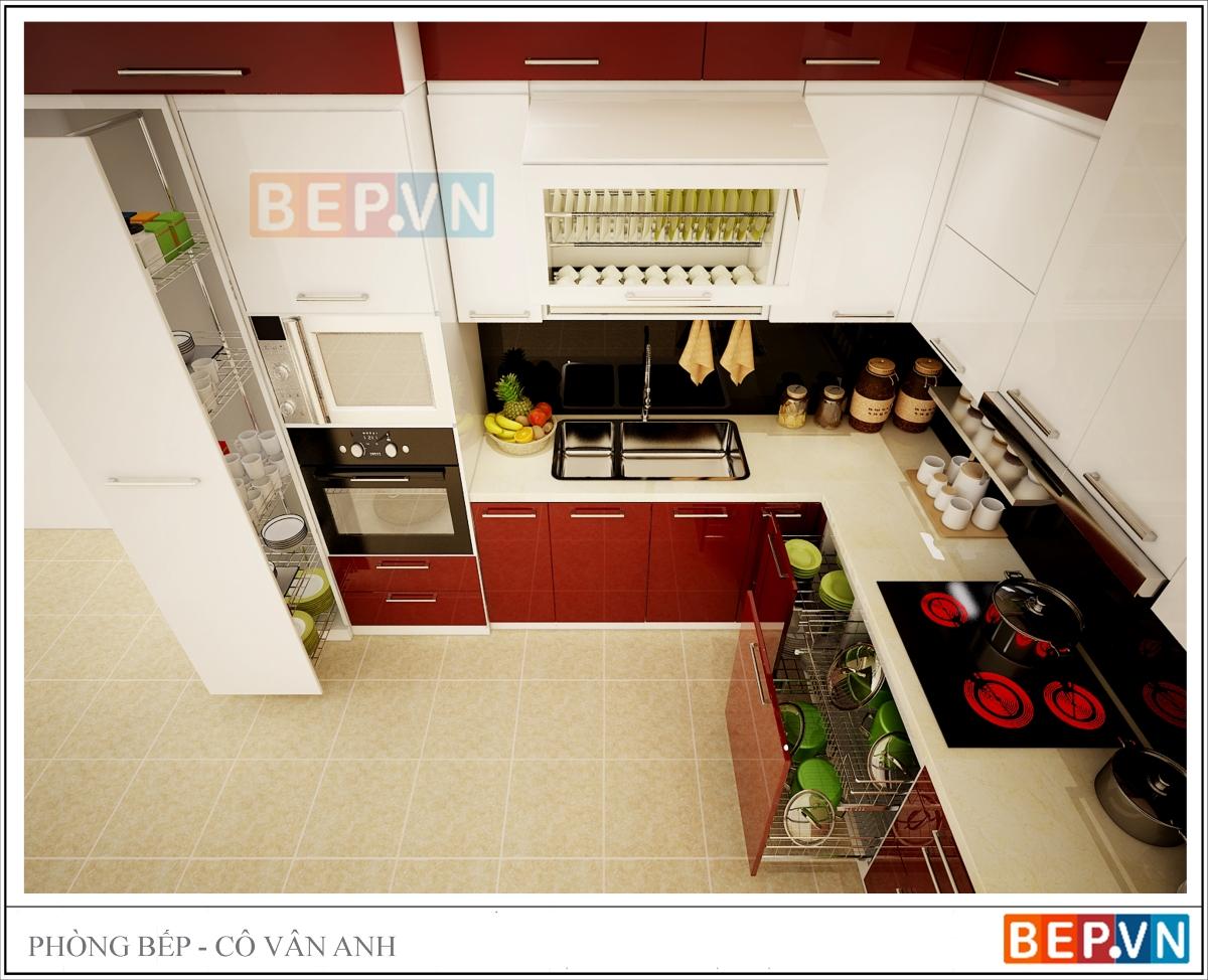 Tận dụng không gian rộng rãi mà hệ thống tủ bếp kịch trần mang lại, gia chủ thỏa sức kết hợp màu sắc, thêm trang trí....