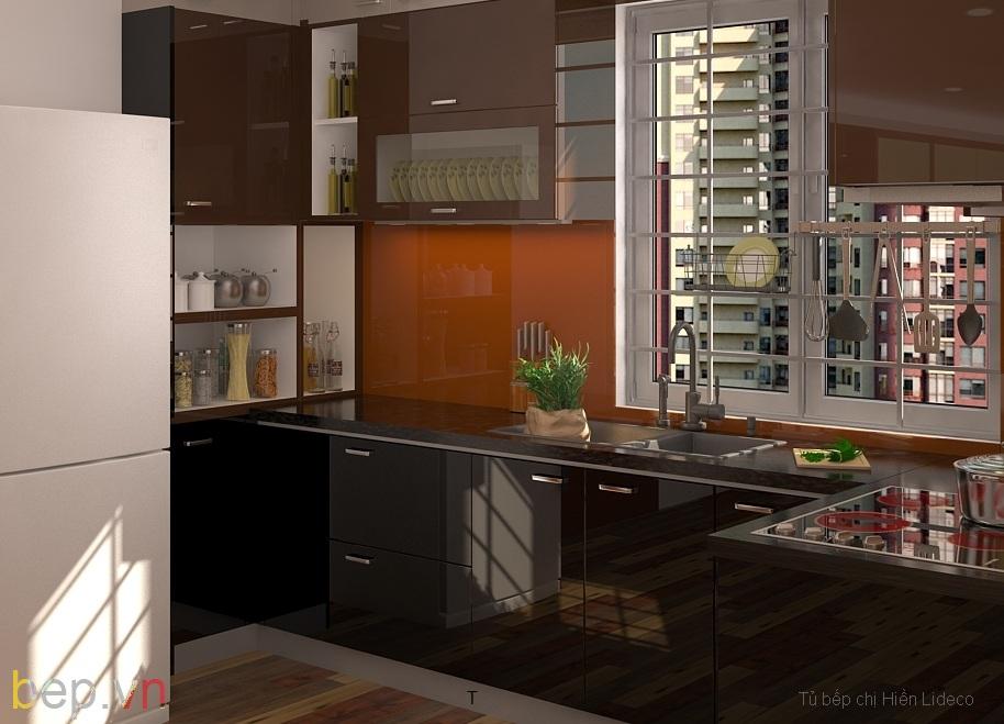 Khoang kệ mở trong hệ thống tủ bếp hiện đại 1