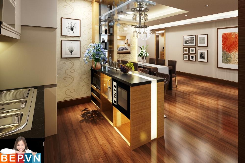 tủ bếp Laminate siêu hiện đại