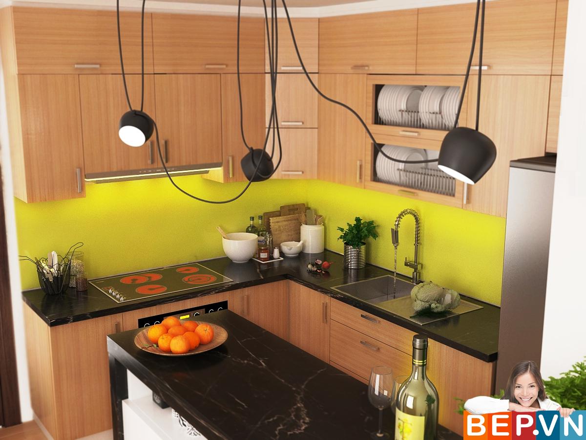 3 thiết kế tủ bếp ấn tượng cho phòng bếp nhỏ - Ảnh 2