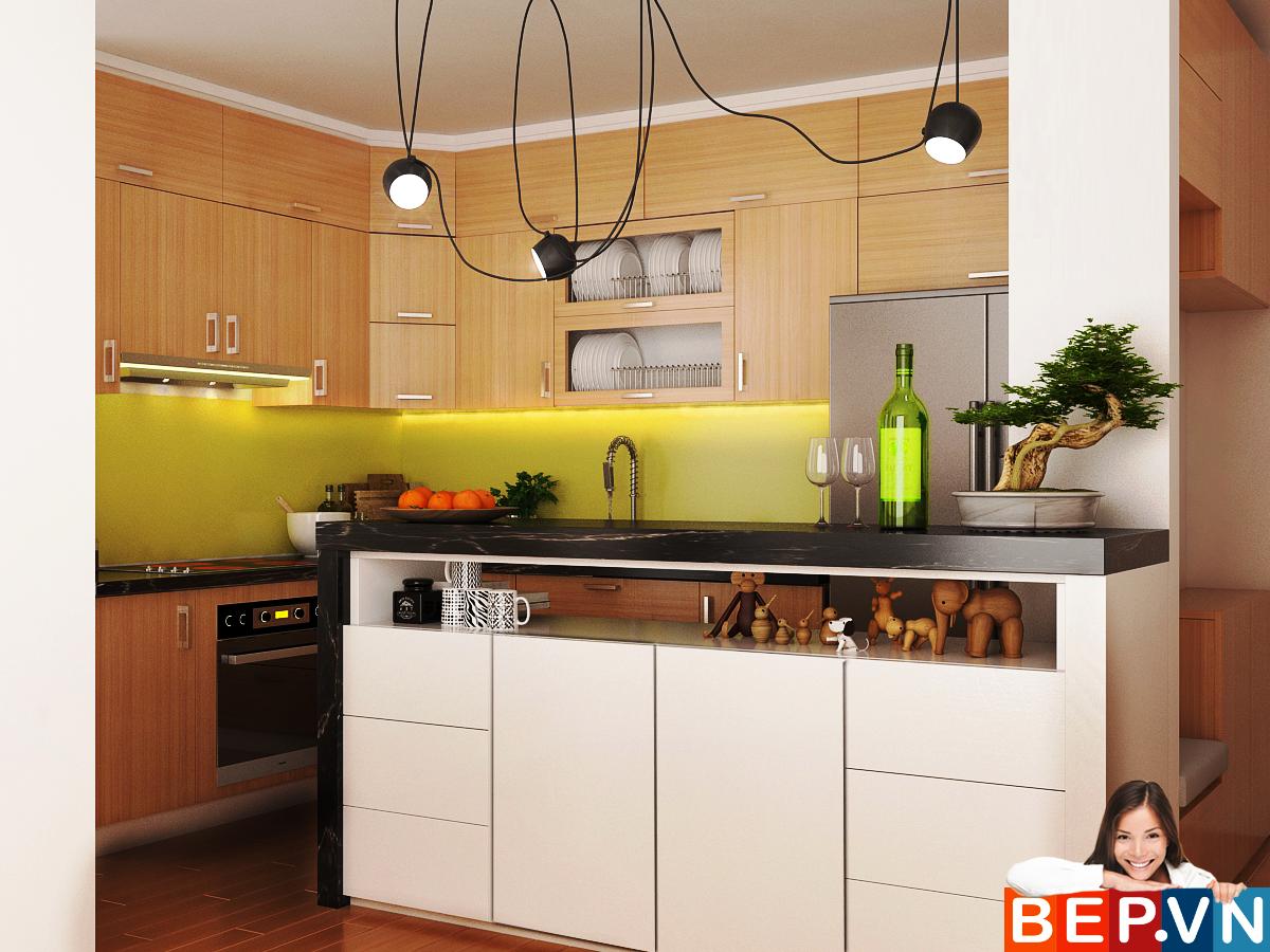 3 thiết kế tủ bếp ấn tượng cho phòng bếp nhỏ - Ảnh 1