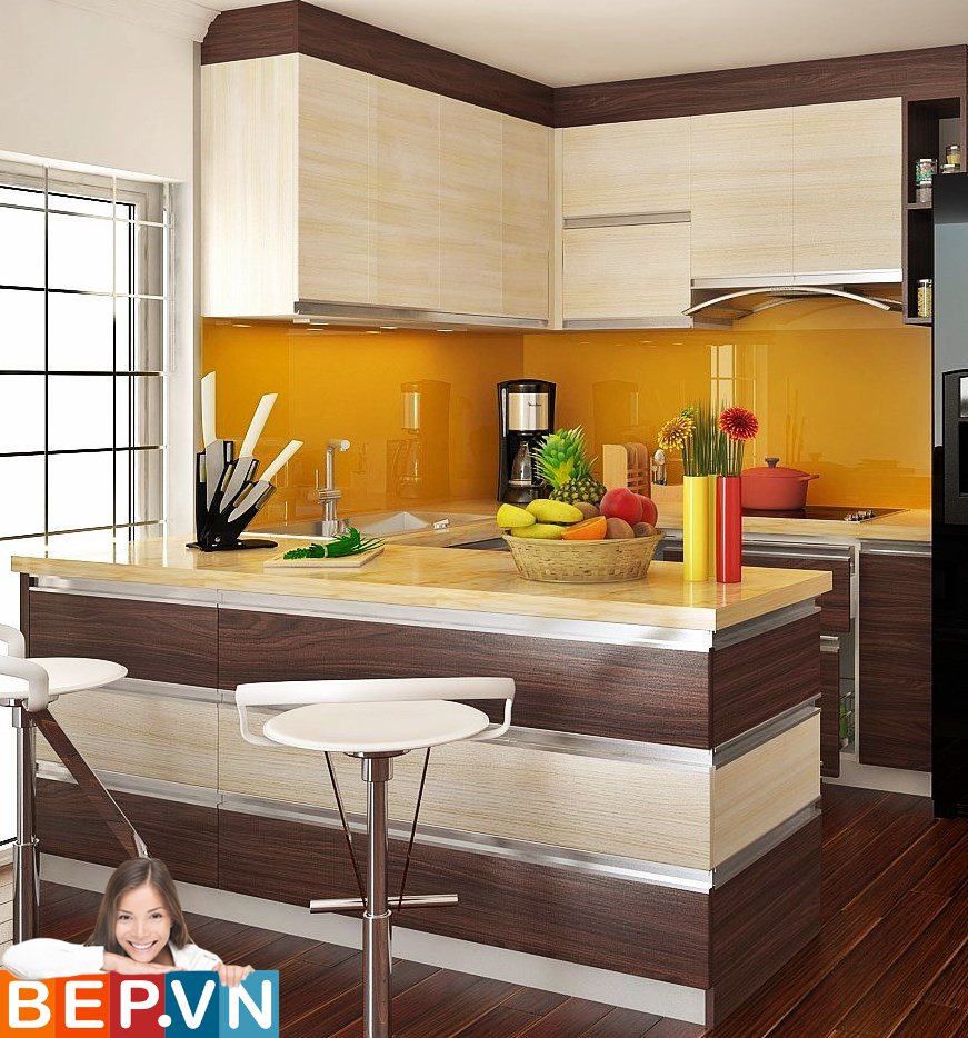 3 thiết kế tủ bếp ấn tượng cho phòng bếp nhỏ - Ảnh 6