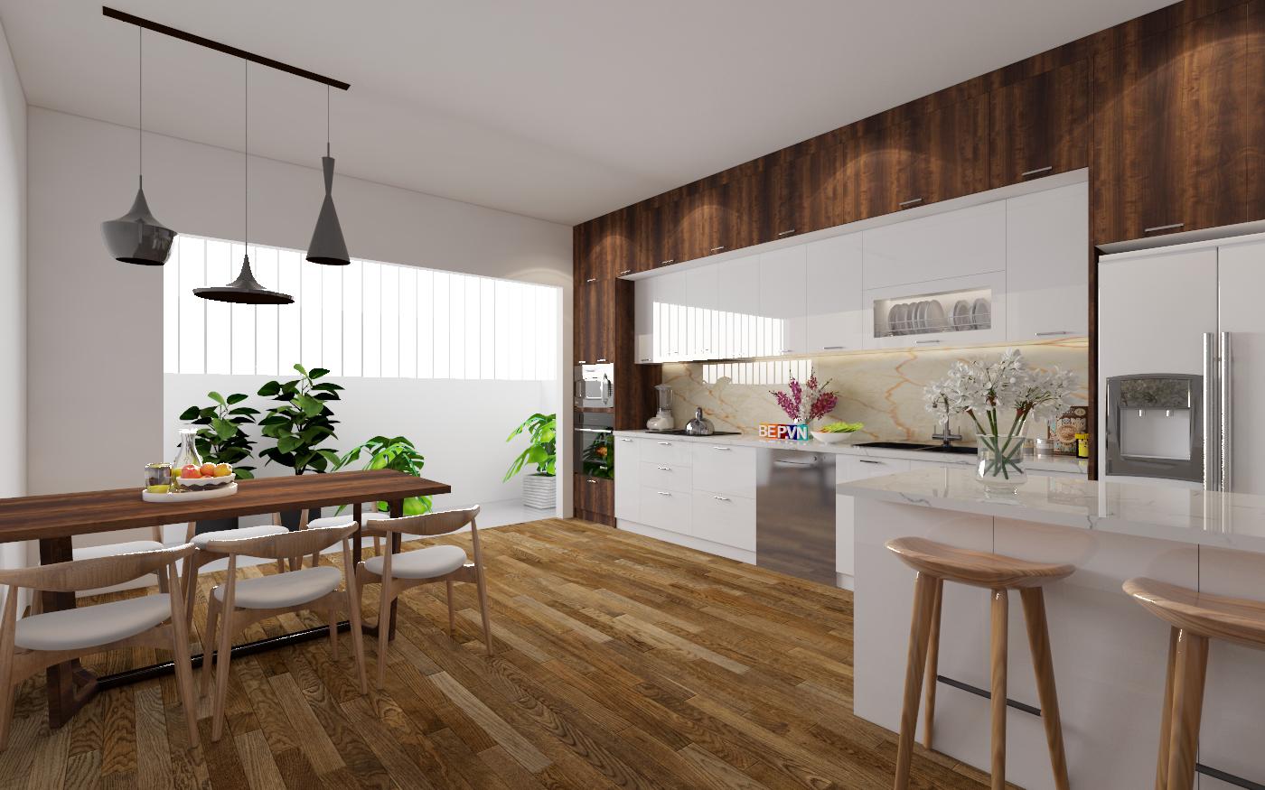 top 10 tủ bếp Laminate phong cách Châu Âu