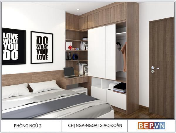 Thiết kế phòng ngủ hiện đại nhà chị Nga - Ngoại giao đoàn