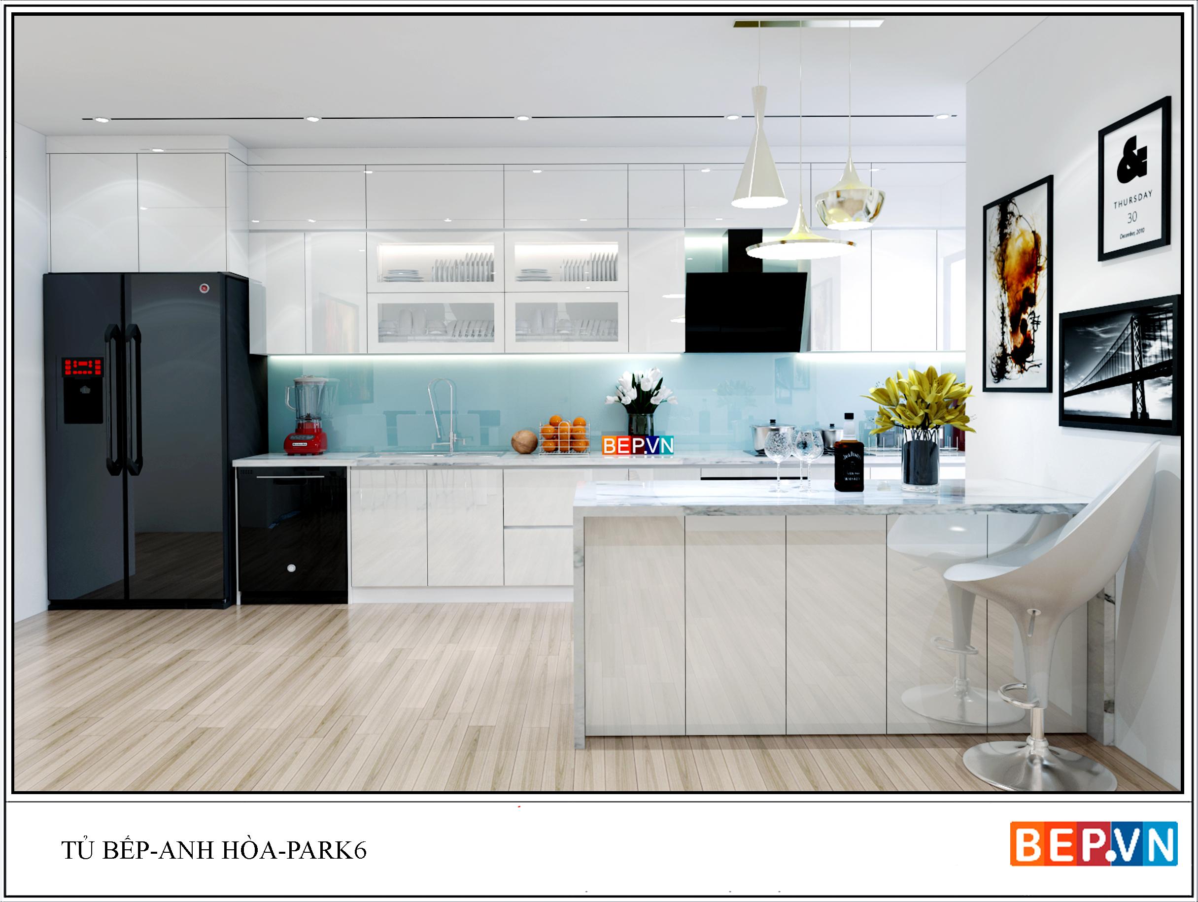 Tủ bếp nhà anh Hòa
