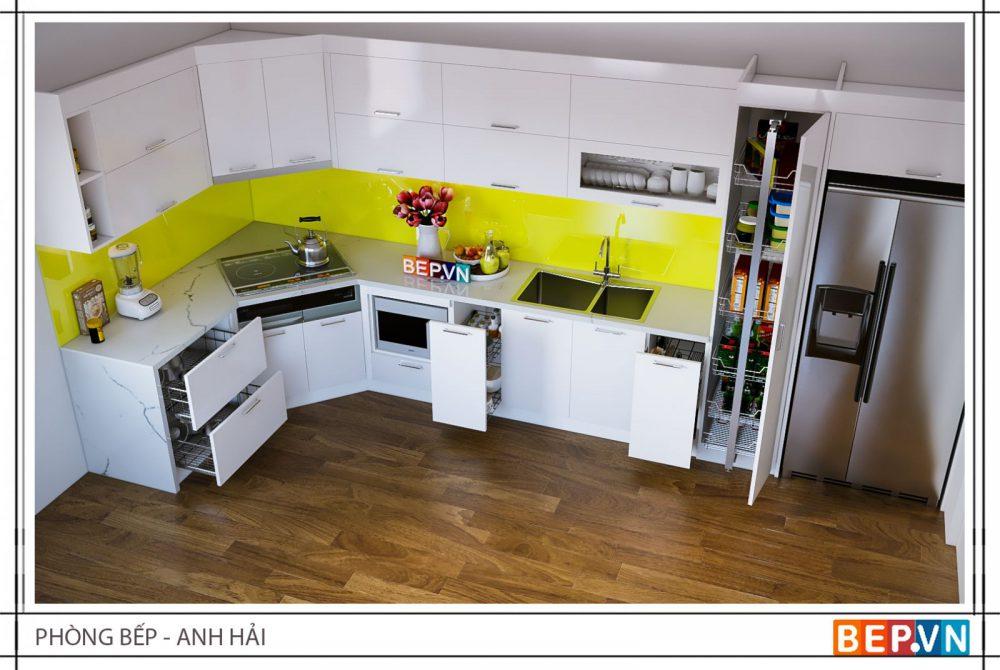 Mẫu tủ bếp Acrylic đẹp và sang trọng theo xu hướng nhà bếp 2018