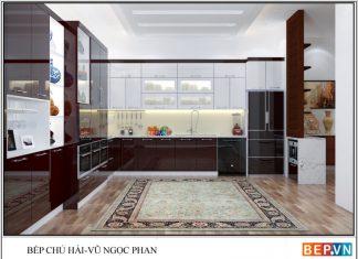 Tủ bếp Acrylic chữ L chú Hải_Vũ Ngọc Phan
