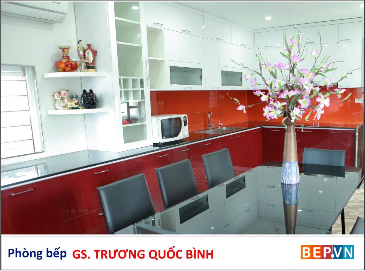 Tủ bếp Acrylic nhà GS. Trương Quốc Bình
