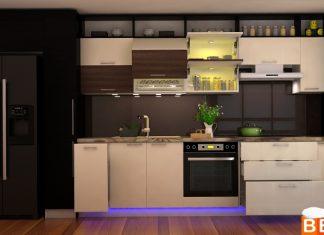Tủ bếp Laminate thẳng đẹp cho nhà bếp nhỏ
