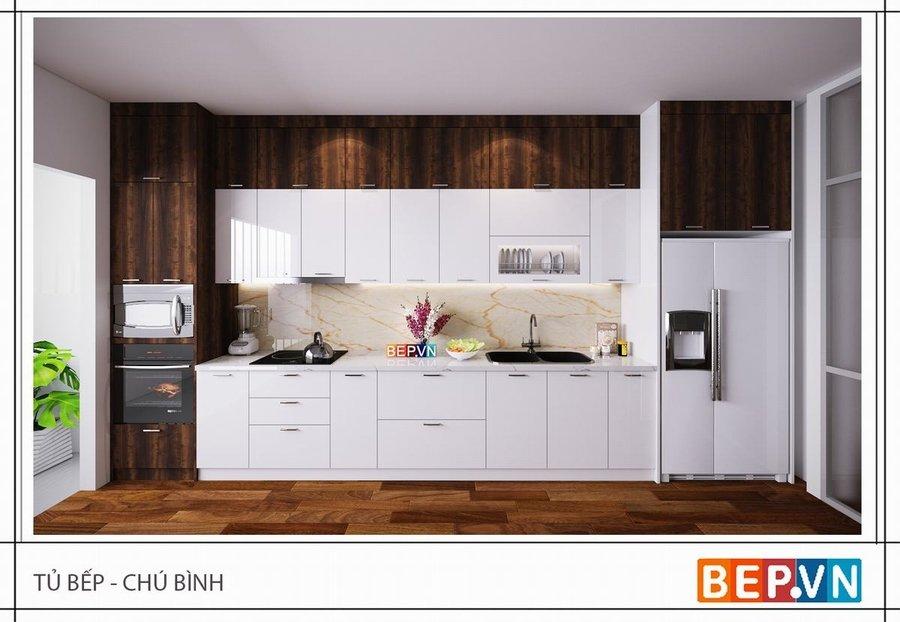 Tủ bếp nhà chú Bình