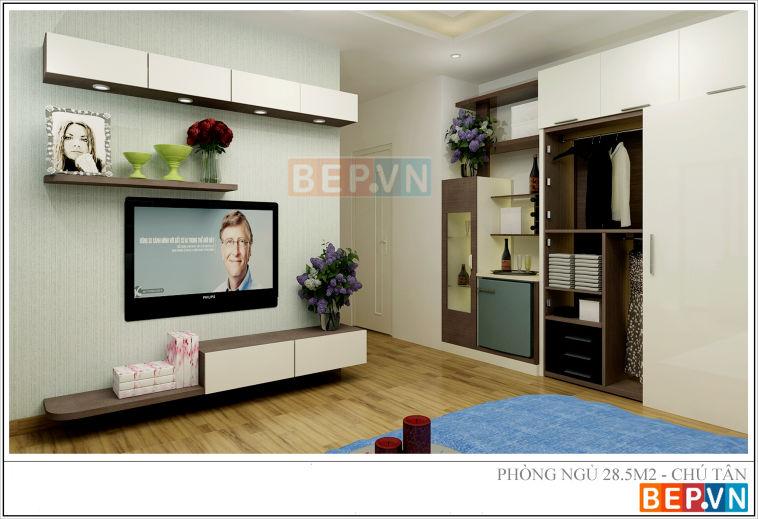 Thiết kế phòng ngủ nhà chú Tân - vĩnh yên