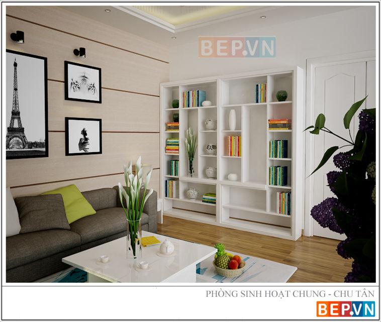 Thiết kế phòng khách nhà chú Tân - vĩnh yên