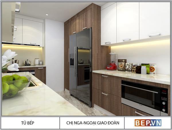 Thiết kế tủ bếp hiện đại nhà chị Nga - Ngoại giao đoàn