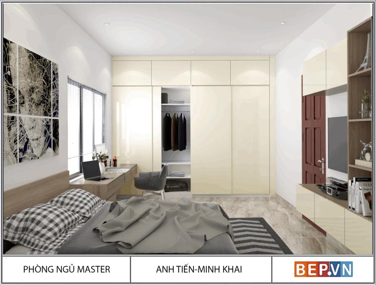Thiết kế phòng ngủ anh Tiến - Minh khai