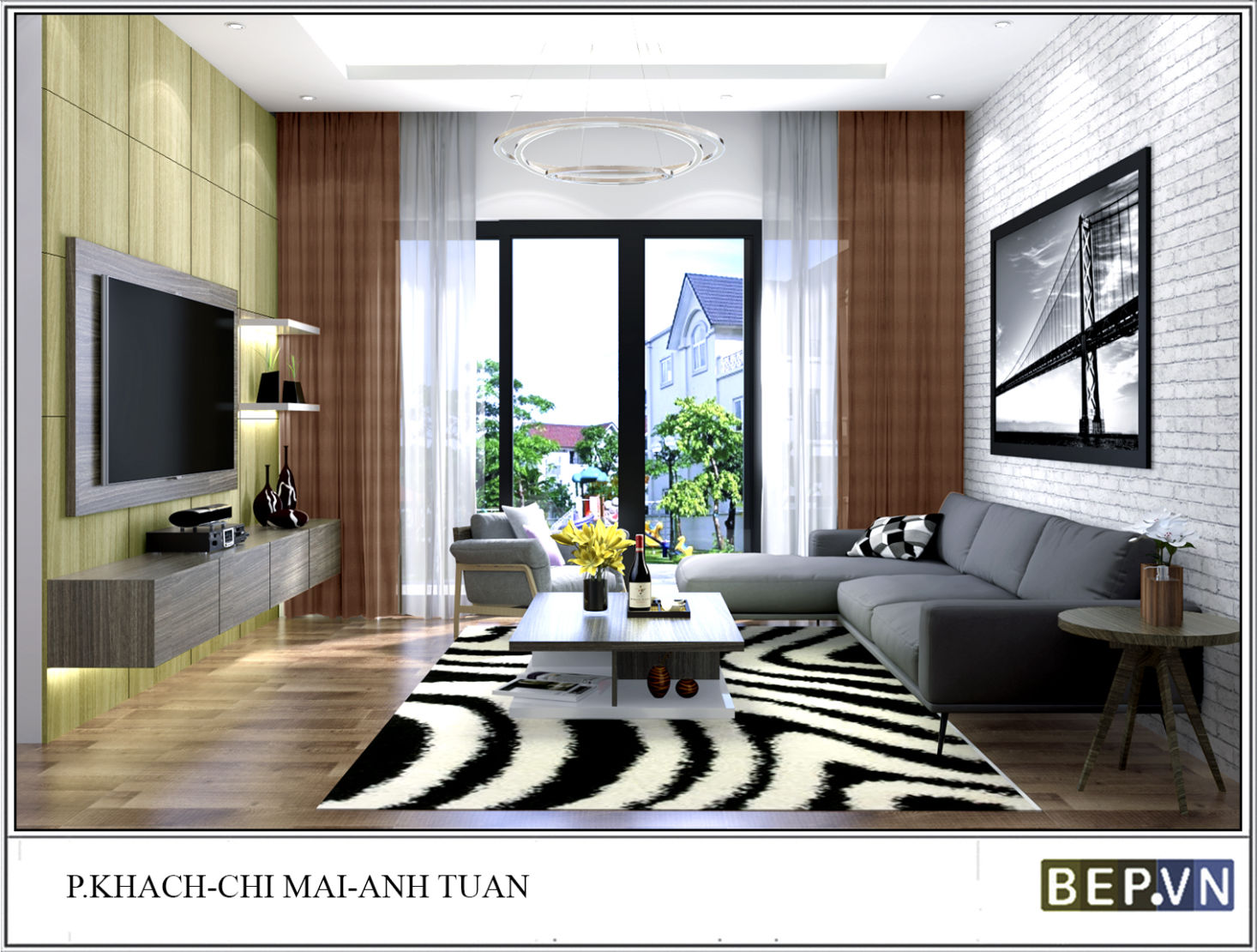 Thiết kế phòng ngủ chị Mai - ecopark