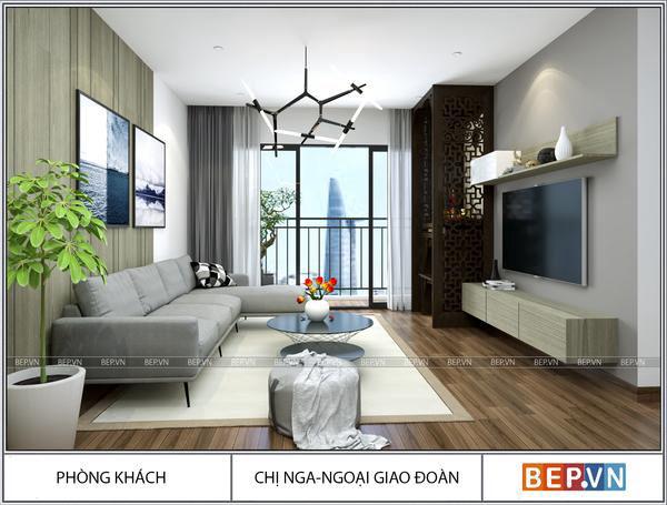 Thiết kế nội thất hiện đại nhà chị Nga - Ngoại giao đoàn