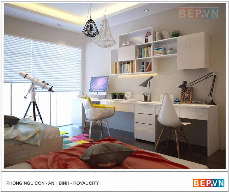 Thiết kế phòng ngủ nhà anh bình royal