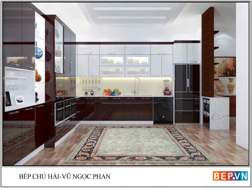 Tủ bếp Acrylic chú Hải Vũ Ngọc Phan