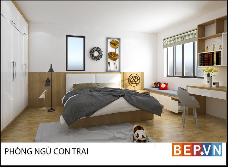 Thiết kế phòng ngủ chị Mai