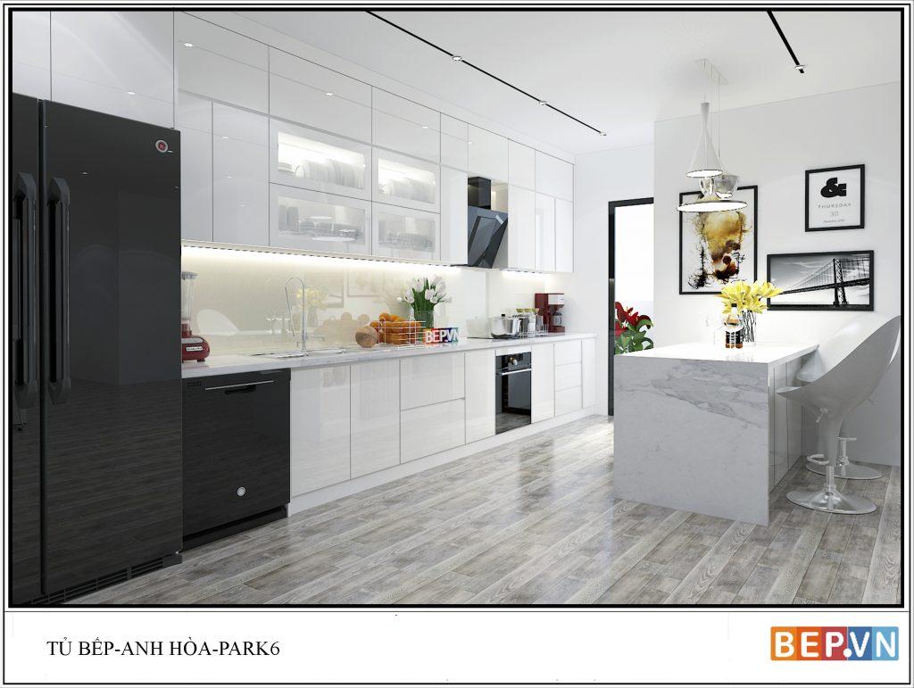 4 thiết kế tủ bếp chữ i thú vị, độc đáo