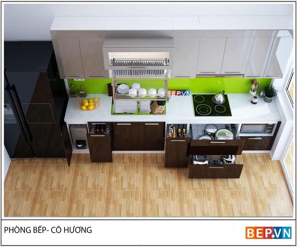 5 thiết kế tủ bếp gỗ đẹp cho nhà hẹp khiến bạn thích mê