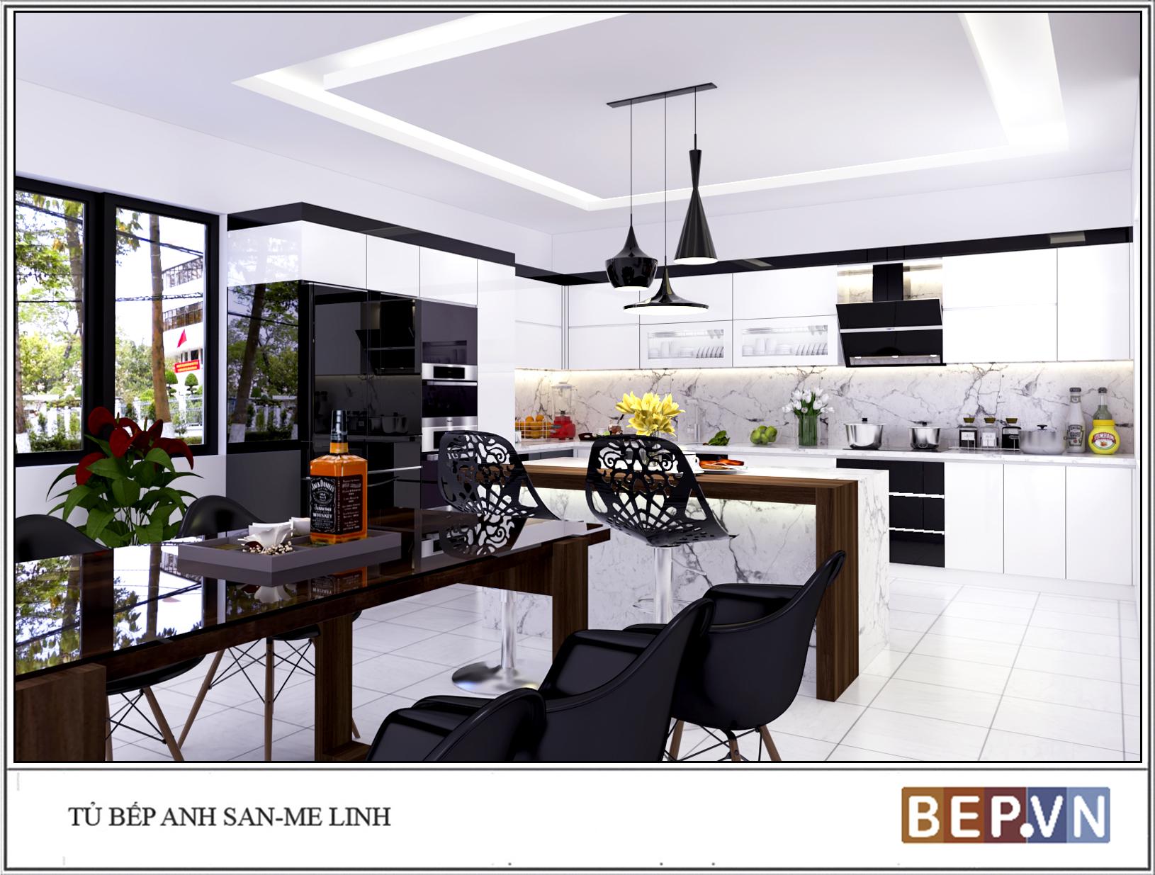 Tư vấn trang trí nội thất phòng bếp theo phong cách hiện đại