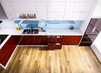 Tủ bếp Acrylic chú Nội – Tây hồ