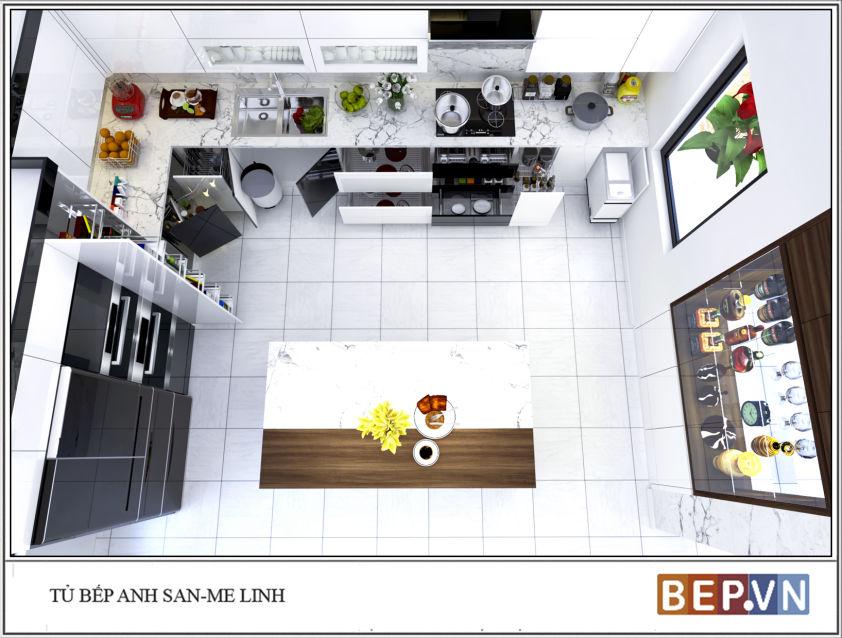 Tủ bếp Acrylic anh San - Mê Linh