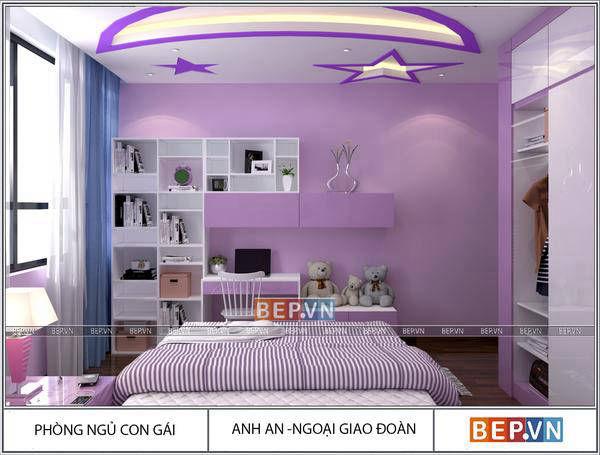Phòng ngủ Thiết kế nội thất hiện đại nhà anh An