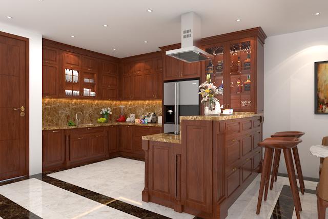 lựa chọn tủ bếp gỗ tự nhiên hay tủ bếp gỗ công nghiệp