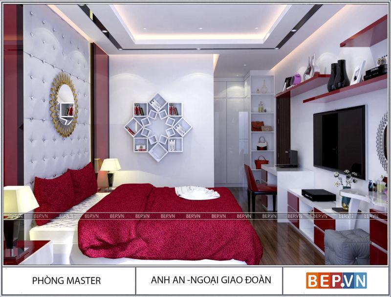 Thiết kế nội thất hiện đại nhà anh An