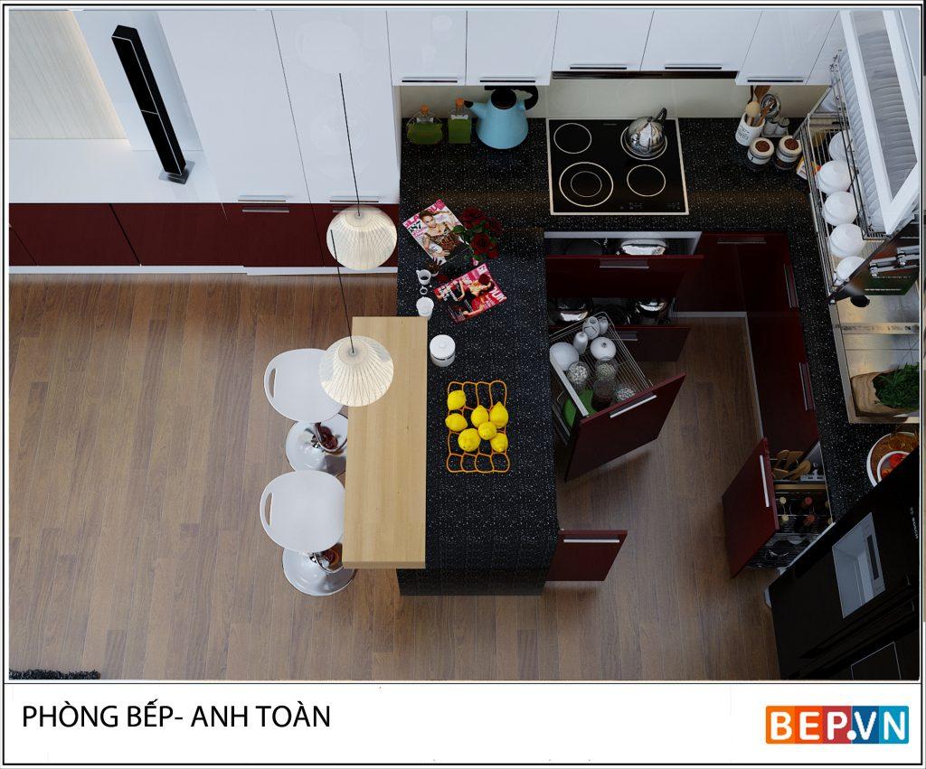 Mẫu tủ bếp đẹp cho nhà bếp nhỏ ảnh 1