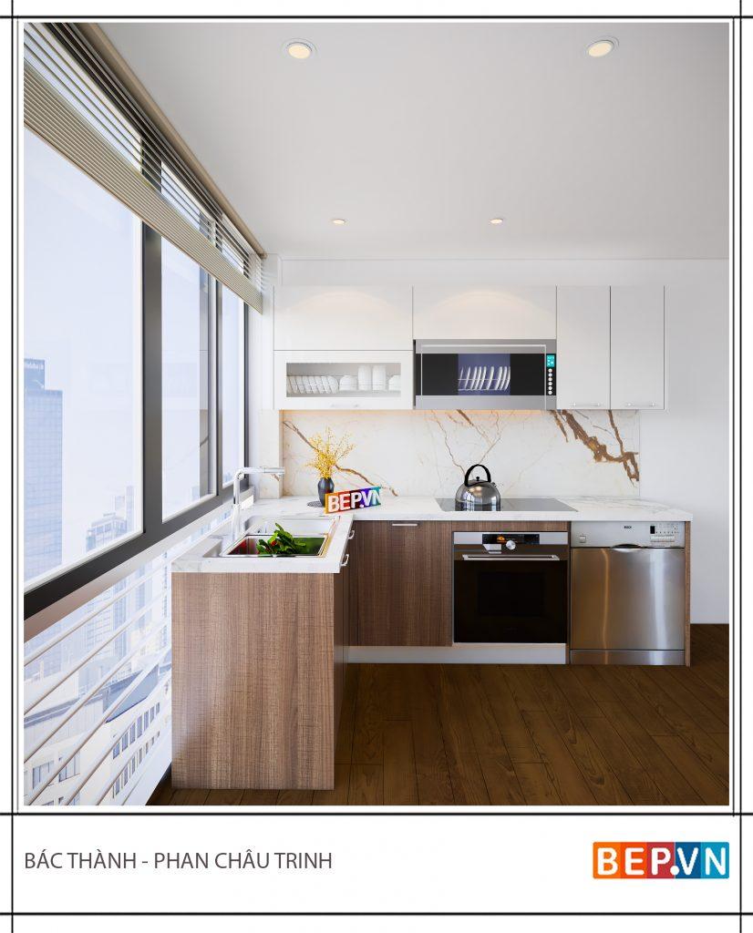 Mẫu tủ bếp đẹp cho nhà bếp nhỏ