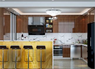 Mẫu tủ bếp đẹp theo phong cách tối giản gia đình chú Mừng.
