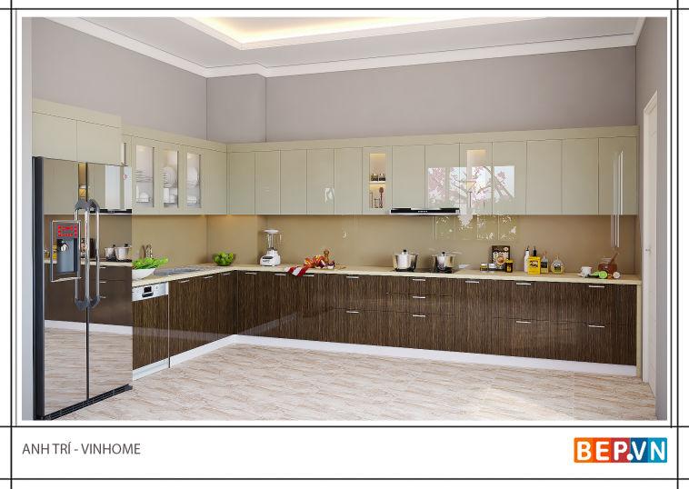 Thiết kế nội thất nhà bếp anh Trí - Vinhome