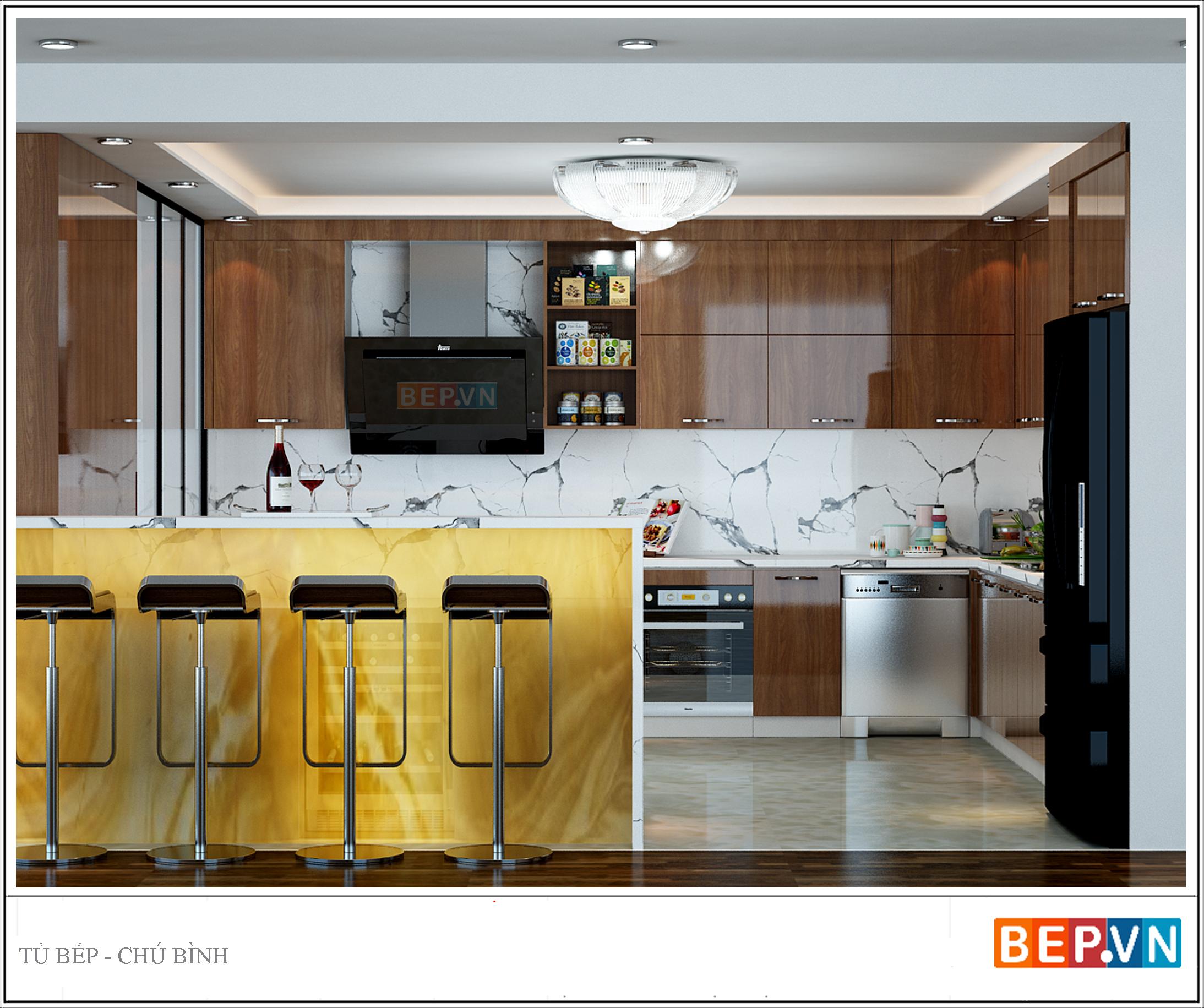 Thiết kế đảo bếp đẹp cho nhà hiện đại
