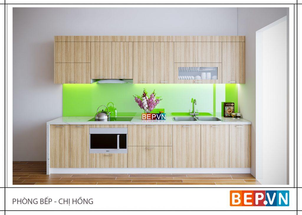 Thiết kế tủ bếp chữ i đẹp mê ly