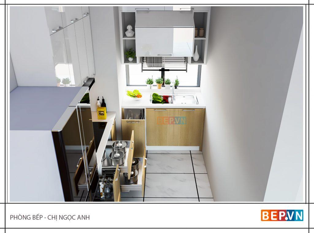 Ý tưởng thiết kế nhà bếp nhỏ đẹp mê hồn