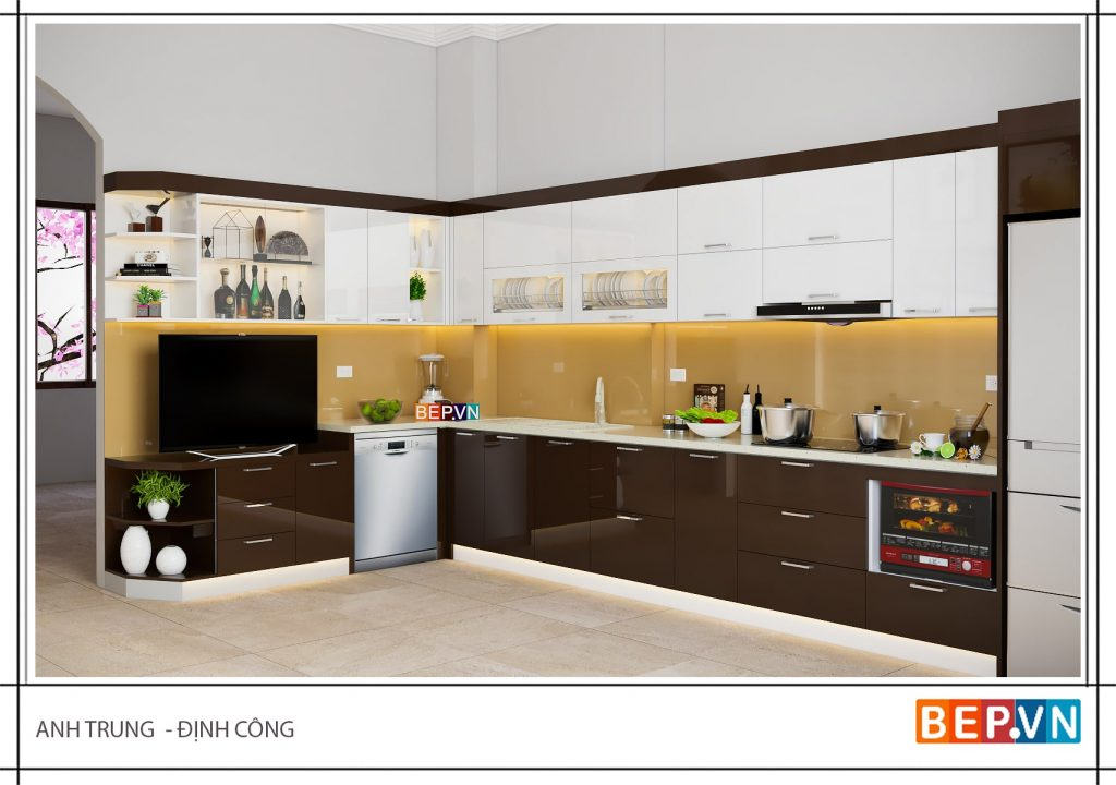 5 mẫu nhà bếp đẹp đơn giản cho nhà ống