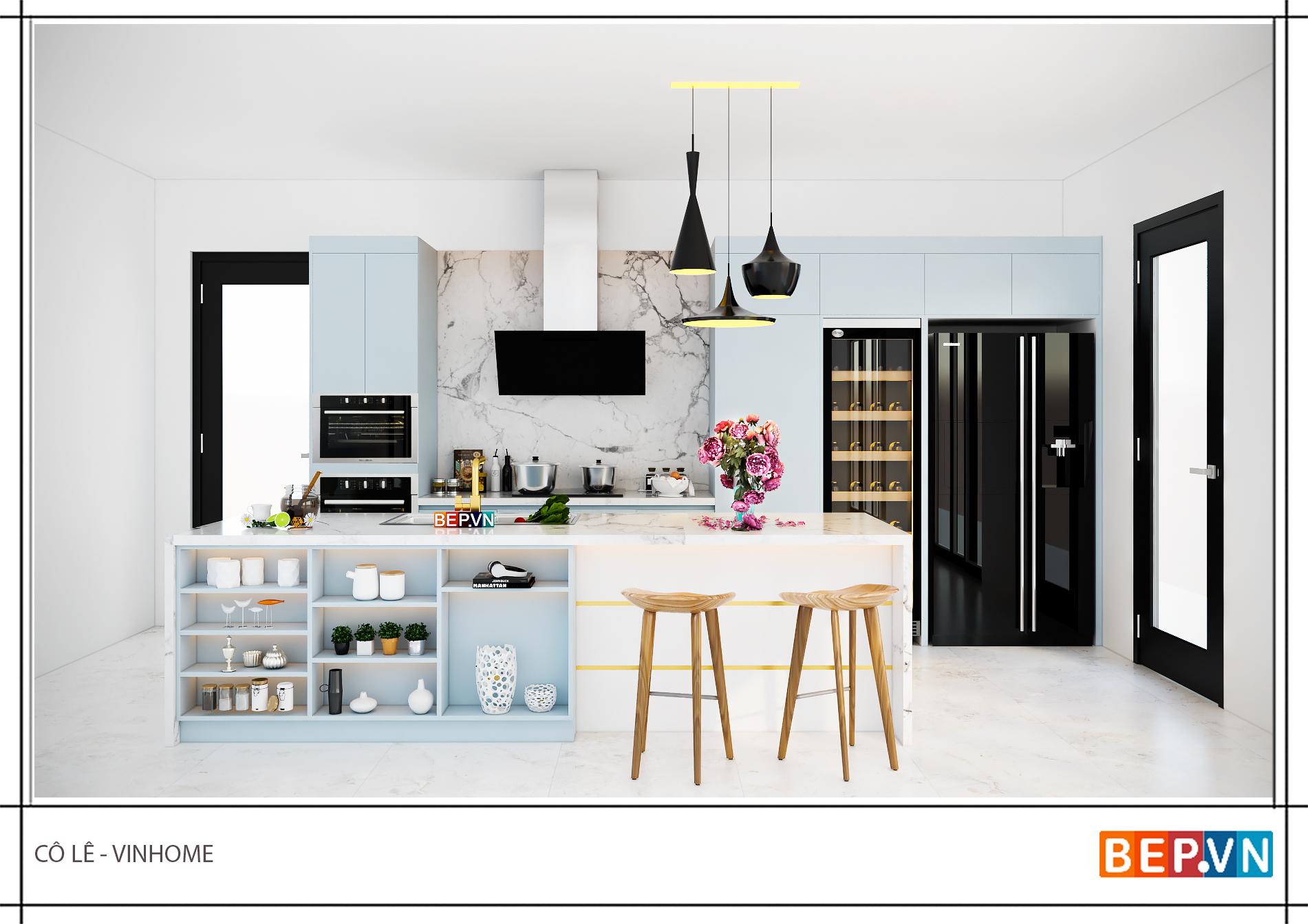 Tủ bếp thông minh xu hướng nhà bếp hiện đại 2019