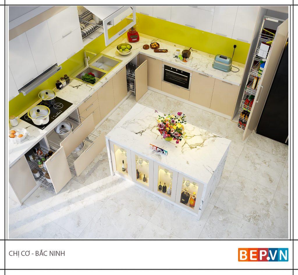 Bàn bếp đẹp là một trong những yếu tố quan trọng nhất đánh giá tổng thể không gian căn bếp.