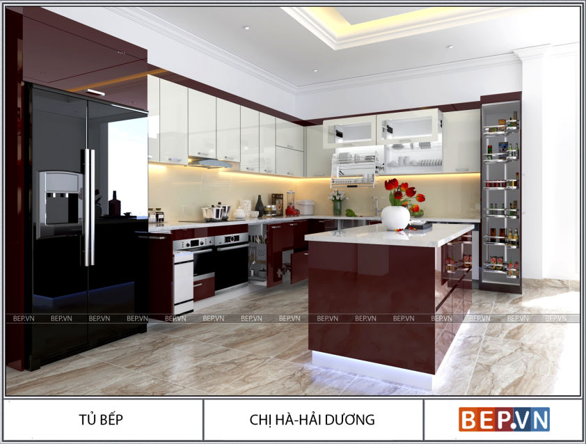 Địa chỉ thiết kế tủ bếp đẹp tại Hà Nội