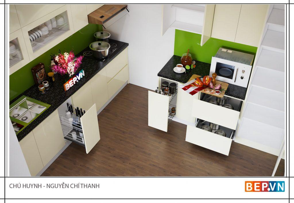 Lựa chọn thiết kế phù hợp không gian cụ thể cho tủ bếp thông minh