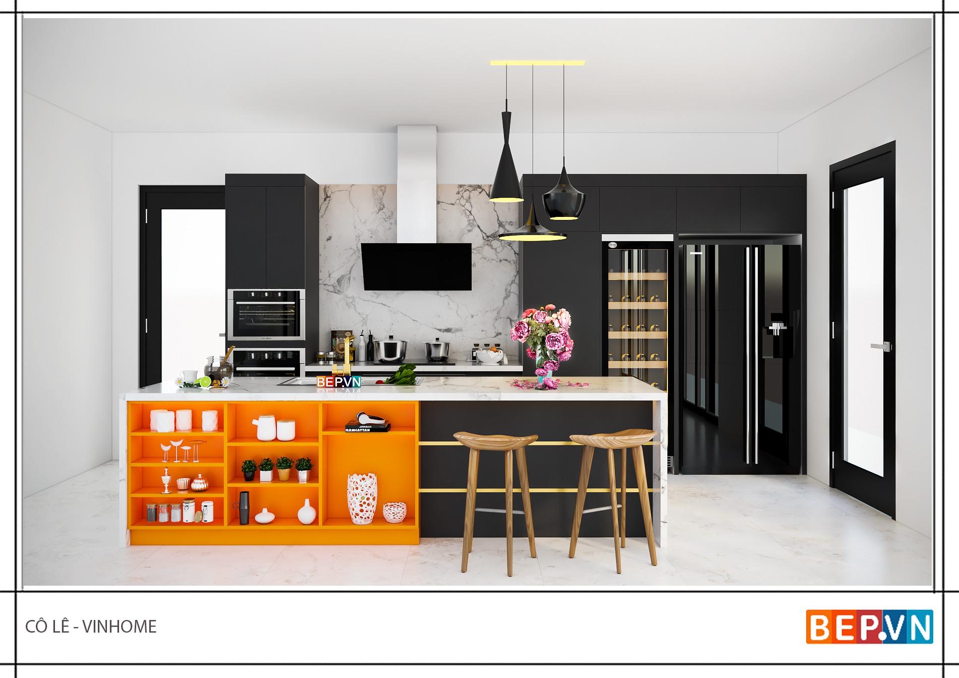 Mẫu phòng bếp đẹp hiện đại cho nhà chung cư