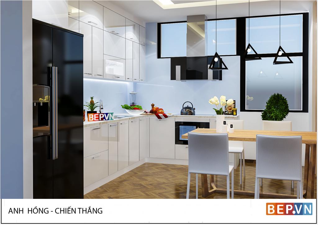 5 mẫu tủ bếp acrylic đẹp hiện đại khiến bạn không thể bỏ lỡ