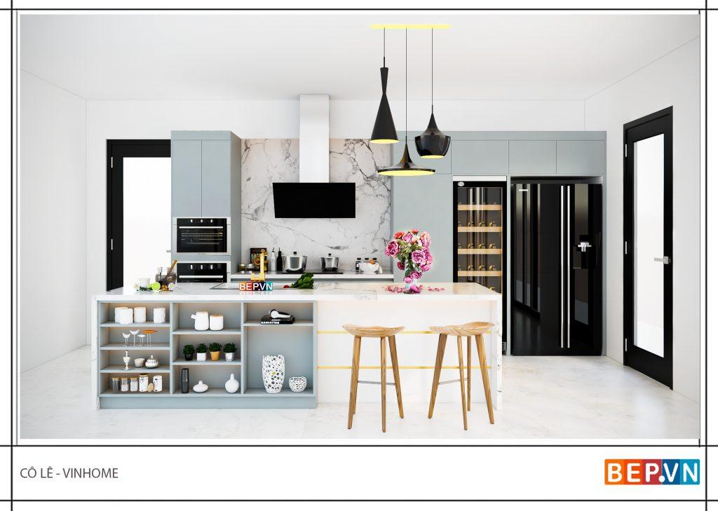 Nguyên tắc phối màu trong thiết kế phòng bếp